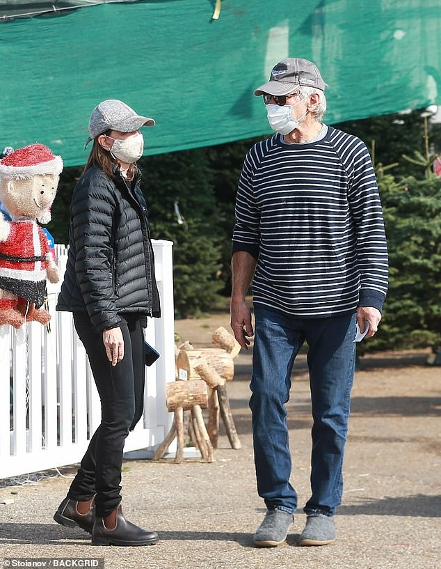 On the hunt: Harrison Ford and wife Calista Flockhart headed out to find the perfect Christmas tree in the Santa Monica neighborhood of Los Angeles on Saturday