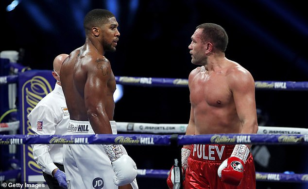 There had been a hint of tension in the home dressing room ahead of Joshua's knockout win