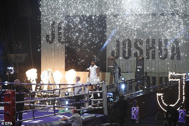 Briton Joshua made his long-awaited return to defend his belts against veteran slugger Pulev