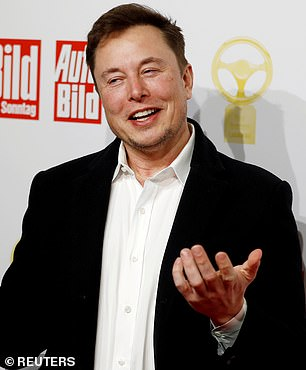 Tesla co-founder and chief executive Elon Musk, pictured above, left California after a heated squabble earlier this year with local authorities, who ordered one of his auto factories closed to stop the spread of COVID