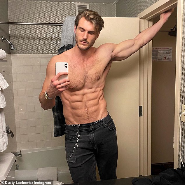 Budding romance?Now the Godzilla vs Kong actress appears to be enjoying a winter romance with 27-year-old Ford Model, Dusty Lachowicz; Dusty pictured