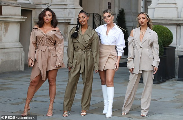Candid: The musician had admitted she 'needed time off' from the group just one week before the announcement (pictured together in September)
