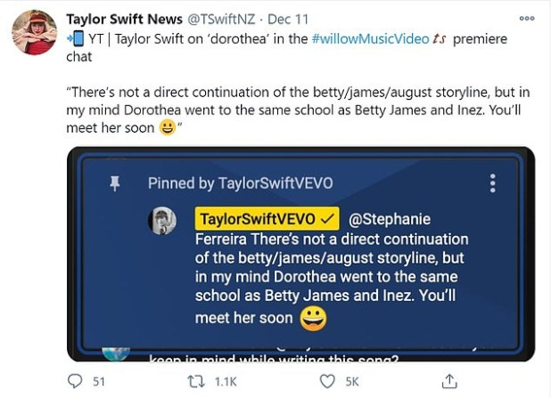 'Soon': Swift teases fans that they will soon meet Dorothia 'with Betty mentioning Lively's children, whose name surfaced through Taylor's final album