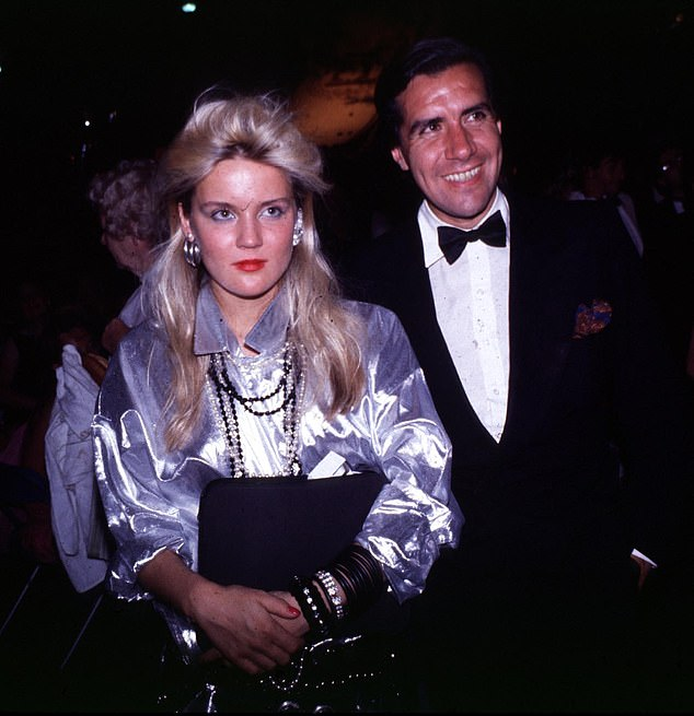 Basualdo pictured with Daphne Guinnes. He was called many things: adventurer, procurer and slimy creep were among the more printable