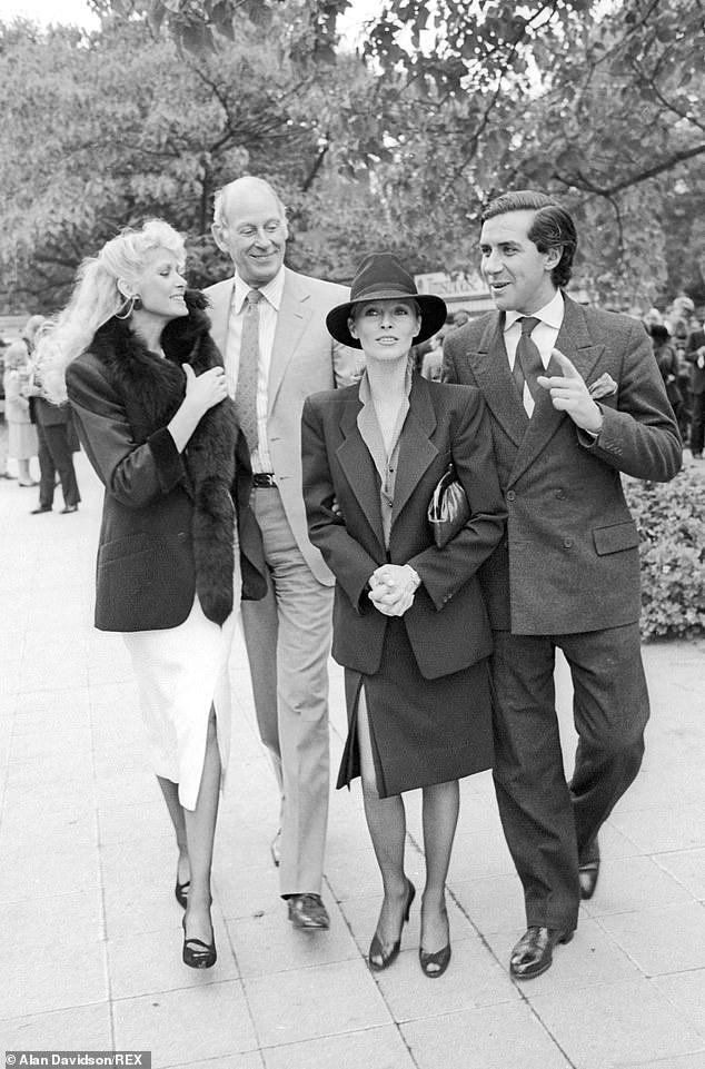Prix De L'arc De Triomphe at Longchamp Racecourse Paris France Shelley Smith Gordon White Cheryl Ladd and Luis Basualdo 1984 Prix De L'arc De Triomphe at Longchamp