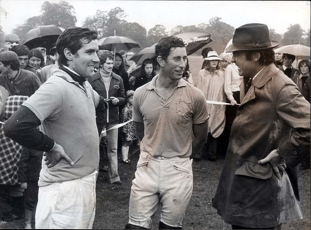 Basualdo (left) had his own polo team, the Golden Eagles, for whom the prince (middle) played in the 1970s