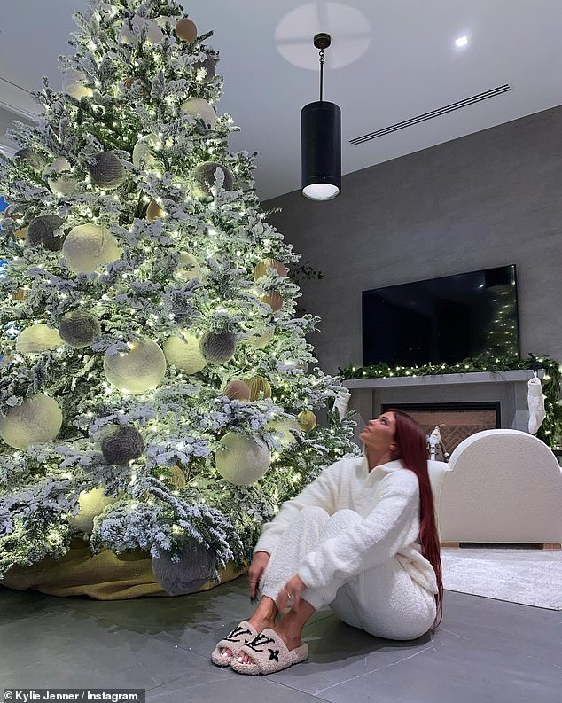 The party is over: Although several Christmas trees were displayed near Kylie's house, her sister Khloe, 36, recently confirmed that the Kardashian-Jenner family's annual Christmas Eve party was canceled this year. year;  Kylie pictured on December 5th