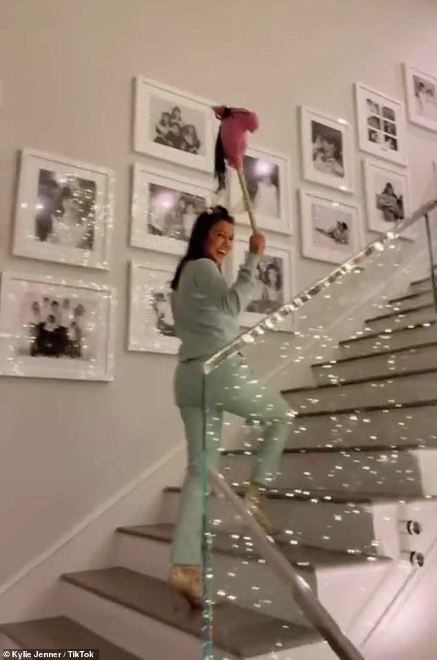 Kourtney Kardashian gallops around on a 'little christmas pony' plush in hilarious TikTok video