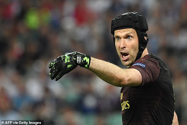 Cech's last professional appearance came in Arsenal's heavy Europa League loss to Chelsea