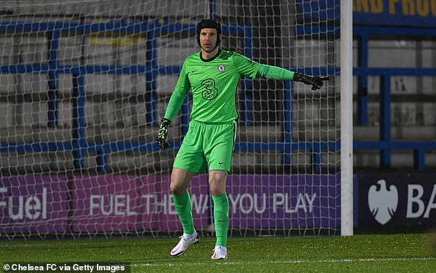 Cech, 38, was registered as an emergency cover for Chelsea's Premier League squad