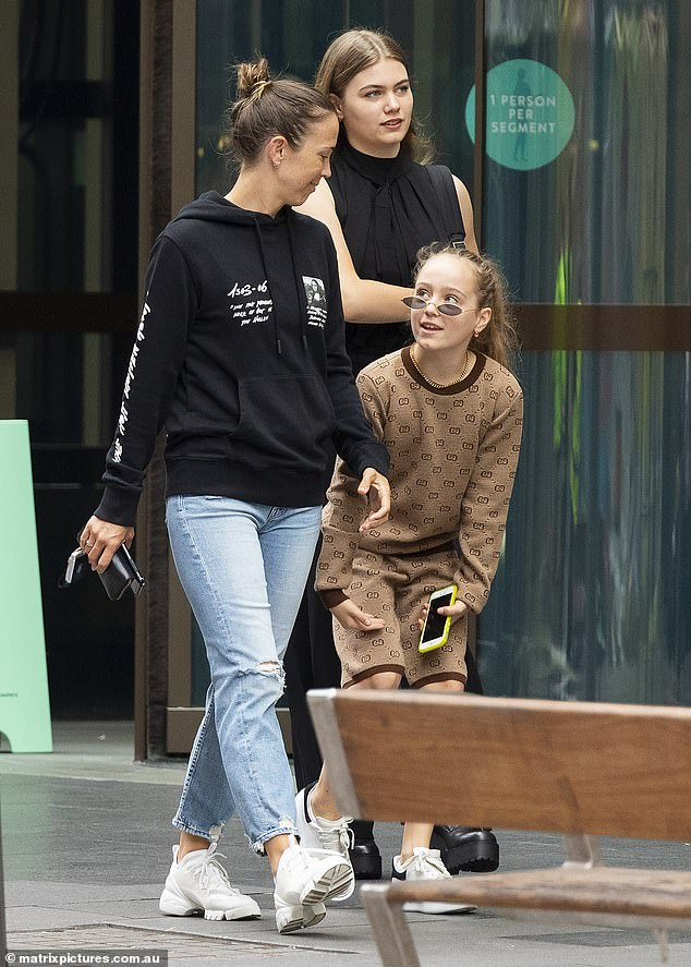 Girls' day out!Bec and her two daughters, Mia, 15, and Ava, 10, were in high spirits after making the interstate move to New South Wales