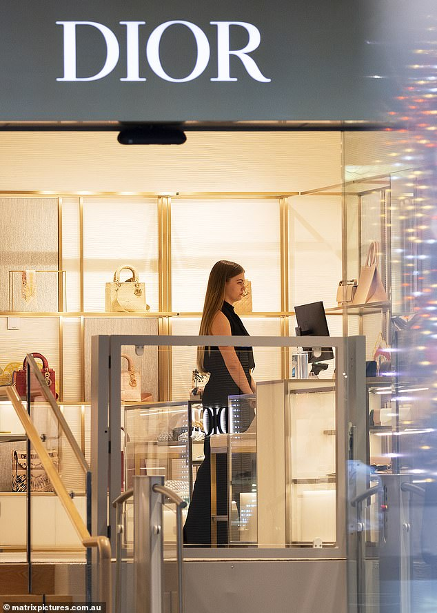 Earning her way:During the outing, Mia appeared to start a job at highly sought-after high end fashion boutique Christian Dior