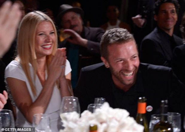 Approved: Chris's ex-wife Gwyneth Paltrow says he 'worships' his girlfriend Dakota Johnson.  The two sparked rumors of an engagement after the Sasperia star was spotted with a large emerald ring;  Seen in Beverly Hills in 2014