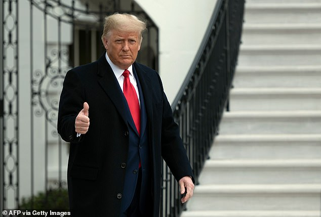 Donald Trump, pictured at the White House on Saturday, has made a series of unfounded claims of election fraud but none of these have succeeded in overturning the results