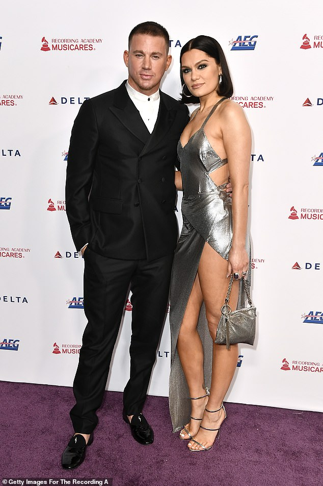 Bold display: The pair confirmed they were stronger than ever as they made their red carpet debut at MusiCares Person Of The Year bash in January (pictured)