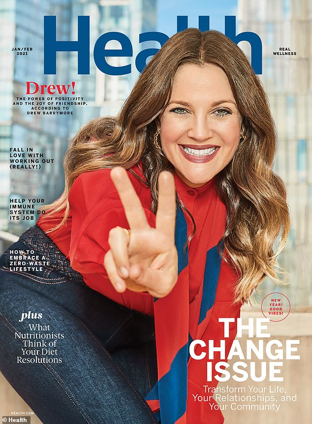 Finding balance: Barrymore recently spoke about struggling to juggle wellness, parenting and friendships during her interview in Health's first-ever Change Issue (which went on sale on December 18)