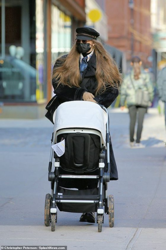 Gigi Hadid turned out to be a doting mother as she drove a pram across New York City on Tuesday morning