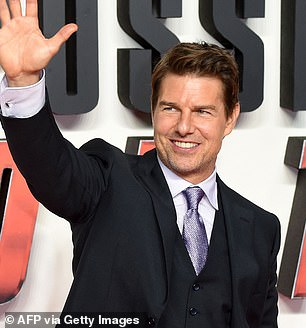 Filming is well-underway for the latest movie in the blockbuster franchise - Mission Impossible 7. Pictured: Tom Cruise