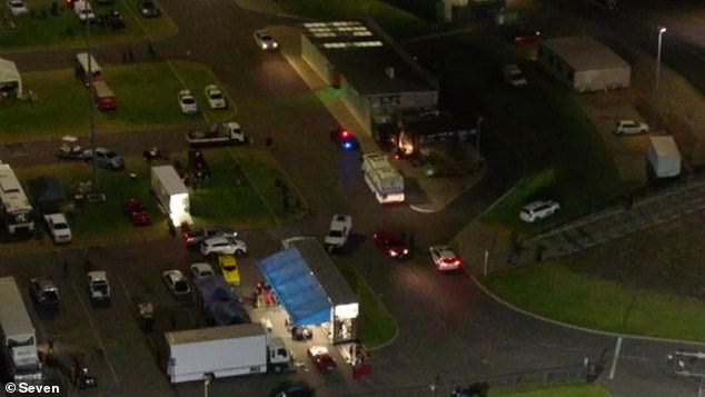 Pictured: Perth Motorplex at Kwinana Beach where the shooting occurred