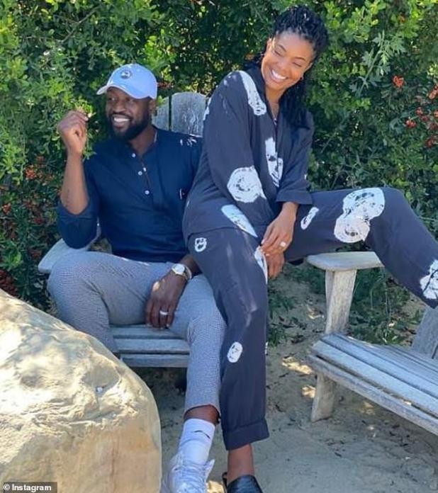 Difficult to handle: The union said that her husband Dwayne Wade knew about her PTSD, but quarantine made her feel 'exposed', as she could talk to her doctor through the zoom.