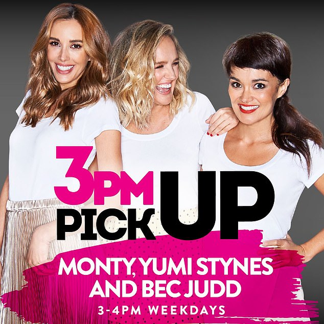No bad blood: It's possible Bec only mentioned Monty and Mel as they are often in the Melbourne studio with her, while Yumi broadcasts interstate in Sydney