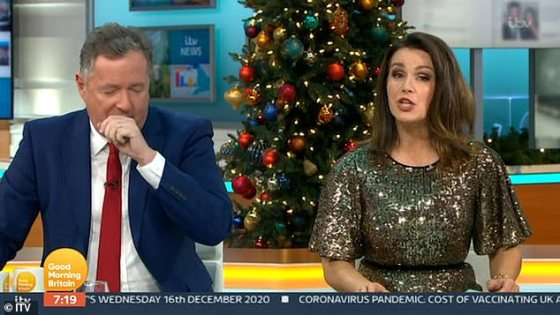 Hilarious!  Piers pretended to scold the GMB crew, yelling, 'Never do that again!  I'm going to fire you!  Okay?'