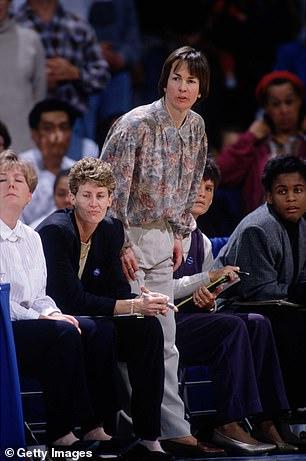 Tara VanDerveer pictured coaching in 1995
