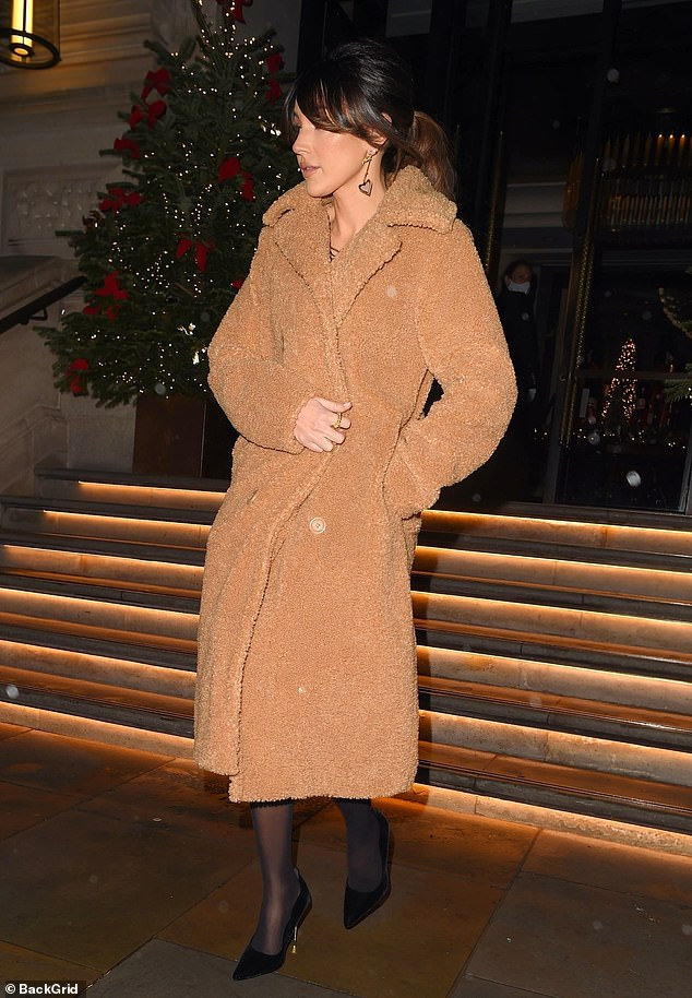 Romantic weekend: The couple headed out for the evening during their long weekend in the celeb-favourite central London hotel