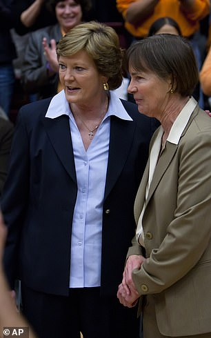 Summitt (left, with VanDerveer), an eight-time national champion, passed away in 2016 at 64 after battling Alzheimer's