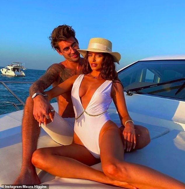Loved-up: Maura shared floods of affectionate snaps with her former Love Island co-star Chris, during their month-long break in Dubai