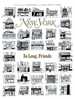 The December 4 cover of New York Magazine is devoted to the hundreds of businesses - including many restaurants - that had to close