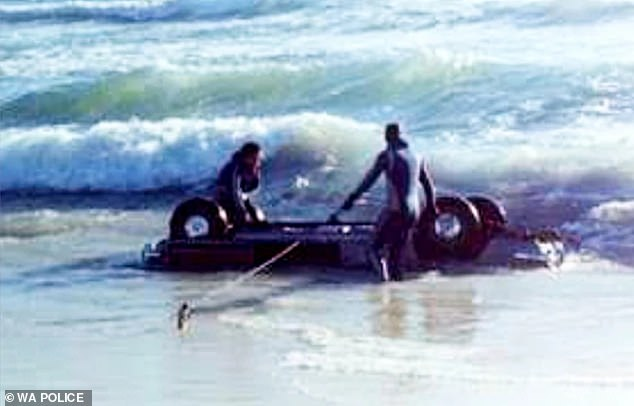 Her car was found two days later in the sea off Cottesloe Beach (pictured) and police believe she