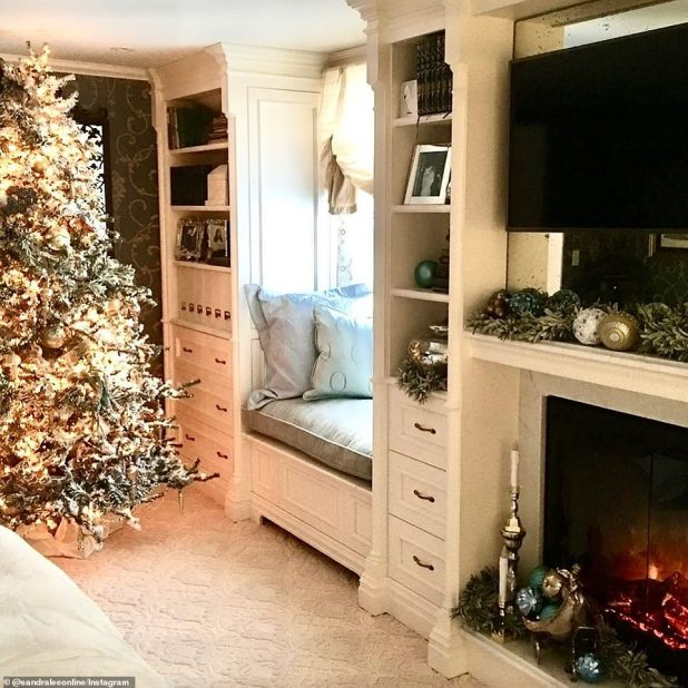 Walking memory lane: Lee shared several of his home snacks in festive decorations over the years on Wednesday