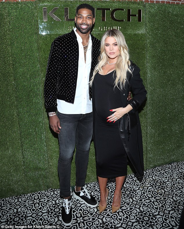 On the town: Khloé Kardashian, 36, and her boyfriend Tristan Thompson, 29, were seen on a dinner date at the Japanese restaurant Zuma in Boston on Tuesday, People reported; seen in 2018