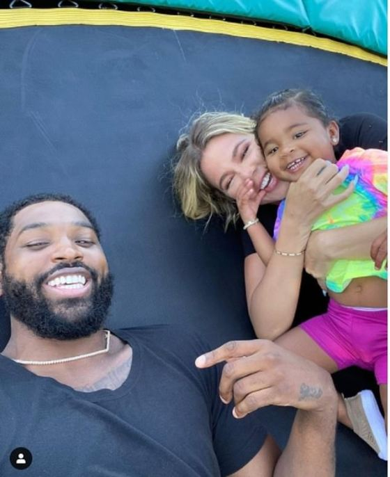 Reunited Family: The couple renewed their relationship while helping to raise their daughter True Thompson, two