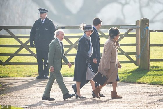 The two have maintained a close relationship over the years, with Sir Jackie Stewart regularly seen attending church in Sandringham with The Princess Royal