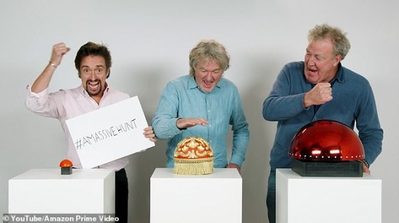 Out now!  Grand Tour's Jeremy Clarkson, James May and Richard Hammond unveiled the A EARLY Massive Hunt special after being marred by questions about when he would be out