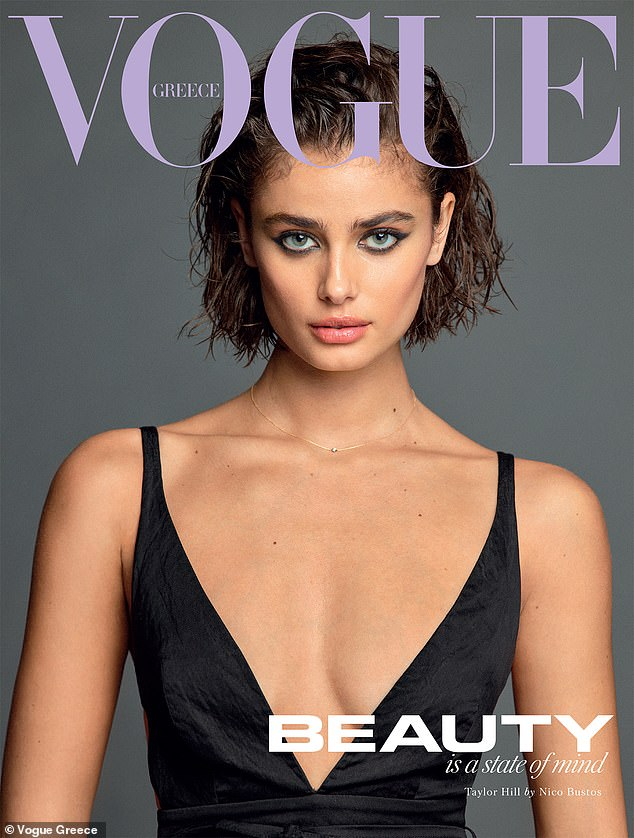 'Beauty is a State of Mind': Aside from VS, Hill is a brand ambassador for Ralph Lauren Fragrances and she landed the January cover of Vogue Greece's double edition