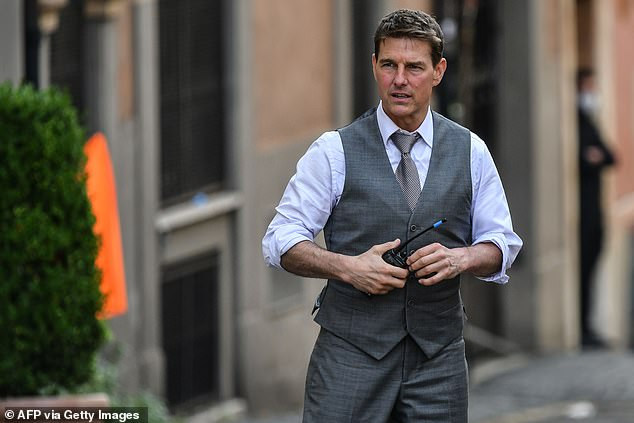 'Fury': It comes after it was claimed earlier this week that five crew members on set have 'quit' after the actor, 58, 'launched into a second rant' following his fury about staff breaking COVID rules (pictured filming in Rome in October)
