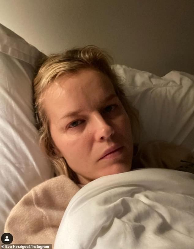 Eva Herzigova reveals she has contracted coronavirus and has 'crazy shivers and physical fatigue'