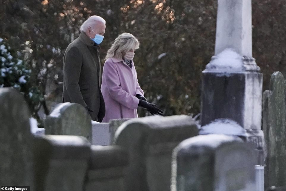 Biden and wife Jill go to church to mark 48th anniversary of death of his first wife and daughter