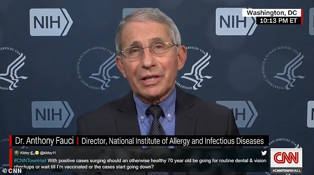 Dr Fauci recommends that Trump 'ultimately' get vaccinated