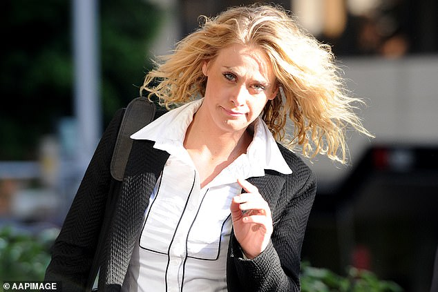 Faced court:In November 2017, Kate avoided conviction after pleading guilty to possessing ice, drug driving and weapons offences. Pictured arriving at the Downing Centre District Court in Sydney in July 2015