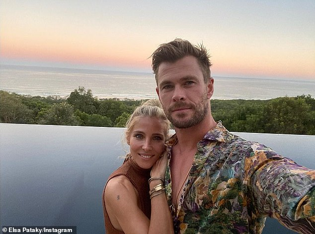 Neighbours: Although she calls the likes of Chris Hemsworth and Elsa Pataky (pictured) neighbuors and may come across Zac Efron, Natalie Portman or Nicole Kidman in town, Bridie doesn't run in those circles