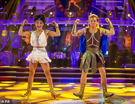 Heroic! Jamie and Karen then took to the floor to dance their Hercules-themed Charleston to the track Zero to Hero