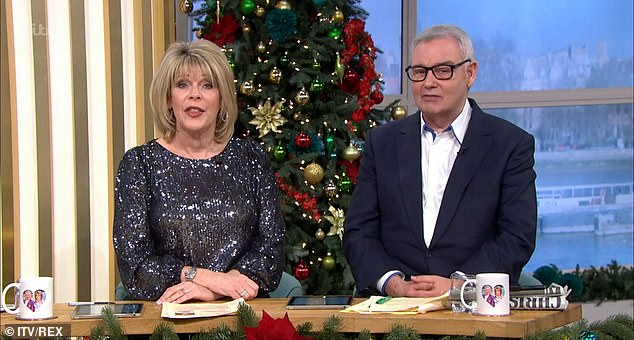 Staying safe: According to sources, the hosts, aged 61 and 60, have been advised to not address losing their slot to avoid missing out on work opportunities (pictured on Wednesday)