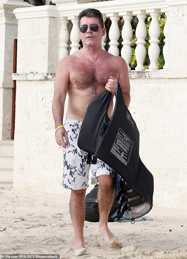Recovery: A source told MailOnline, 'He is walking a lot and swimming and feeling great - but focusing on being on top form for the start of filming for Britain's Got Talent 2021 in January'