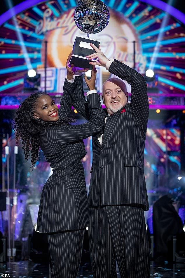 Victorious: He became the oldest ever champion in Strictly Come Dancing history after being declared this year's winner during Saturday night's final