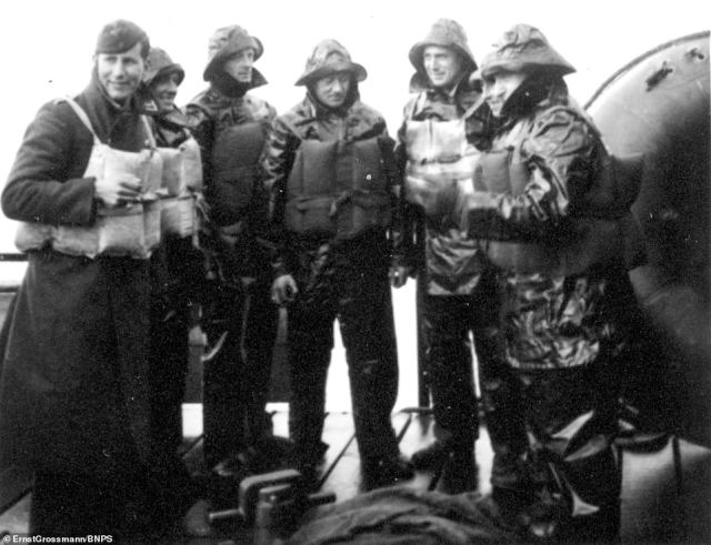 German crew braced for the harsh weather conditions of the English Channel.Plans for a German invasion of Britain were first mooted in November 1939, two months into the war