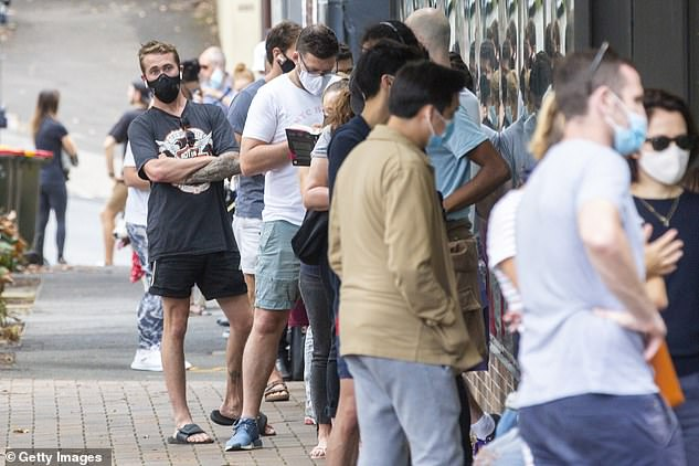 Worried Sydneysiders line up to get tested this week amid a fresh Australian outbreak